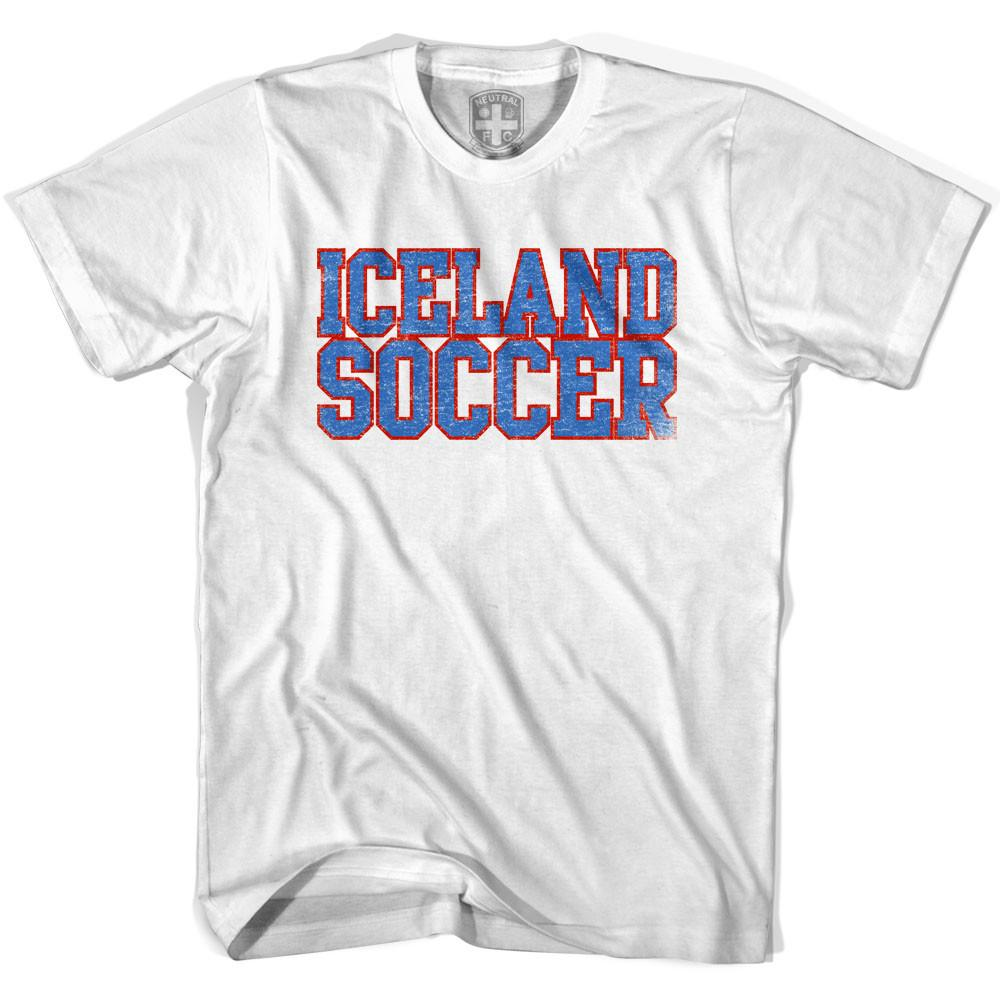 Iceland Soccer Nations World Cup T-shirt in White by Neutral FC