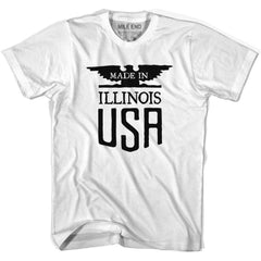 Made in Illinois Vintage Eagle T-shirt in White by Mile End Sportswear