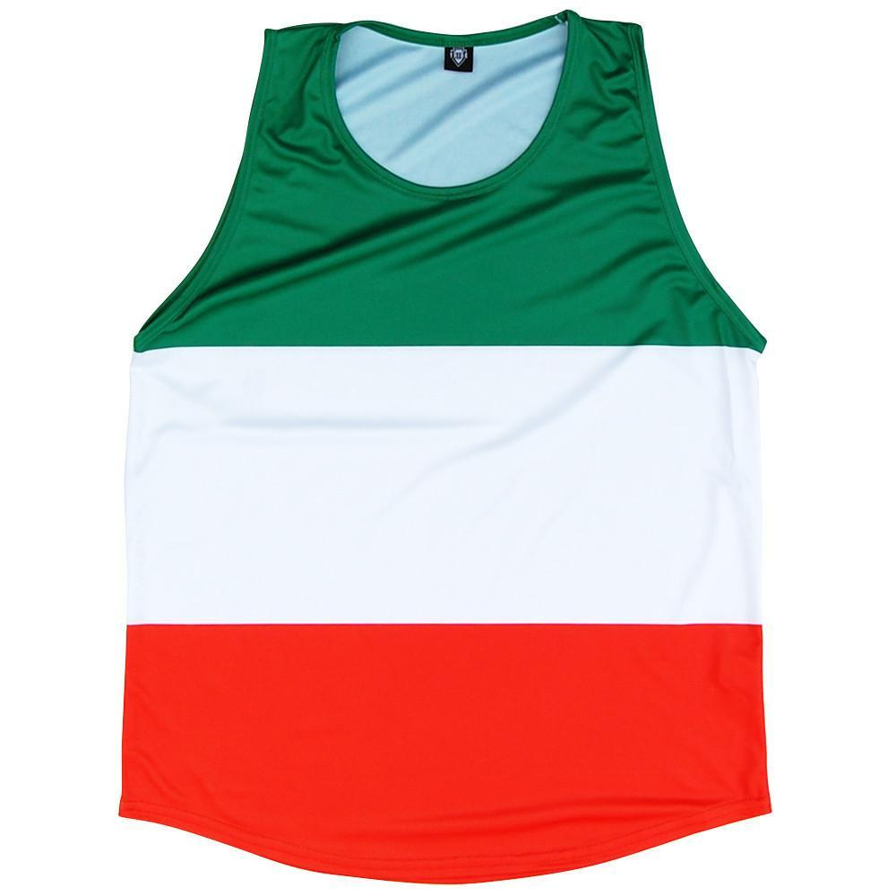 Ireland Flag Sport Tank in Kelly White Orange by Mile End Sportswear