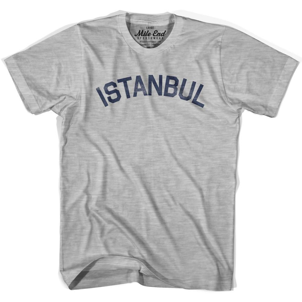 Istanbul City Vintage T-shirt in Grey Heather by Mile End Sportswear