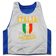 Italy Crest Lacrosse Pinnie - Graphic Mesh Lacrosse Pinnies