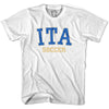 Italy ITA Soccer Country Code T-shirt in White by Neutral FC