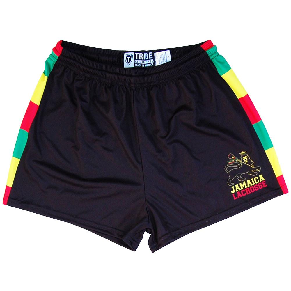 Jamaica Womens & Girls Sport Shorts by Mile End in Black by Mile End Sportswear