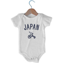 Japan City Tricycle Infant Onesie in White by Mile End Sportswear