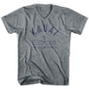 Kauai Anchor Life on the Strand V-neck T-shirt in Athletic Grey by Life On the Strand