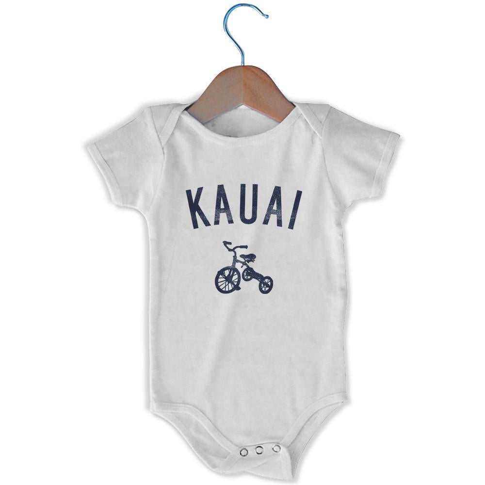 Kauai City Tricycle Infant Onesie in White by Mile End Sportswear