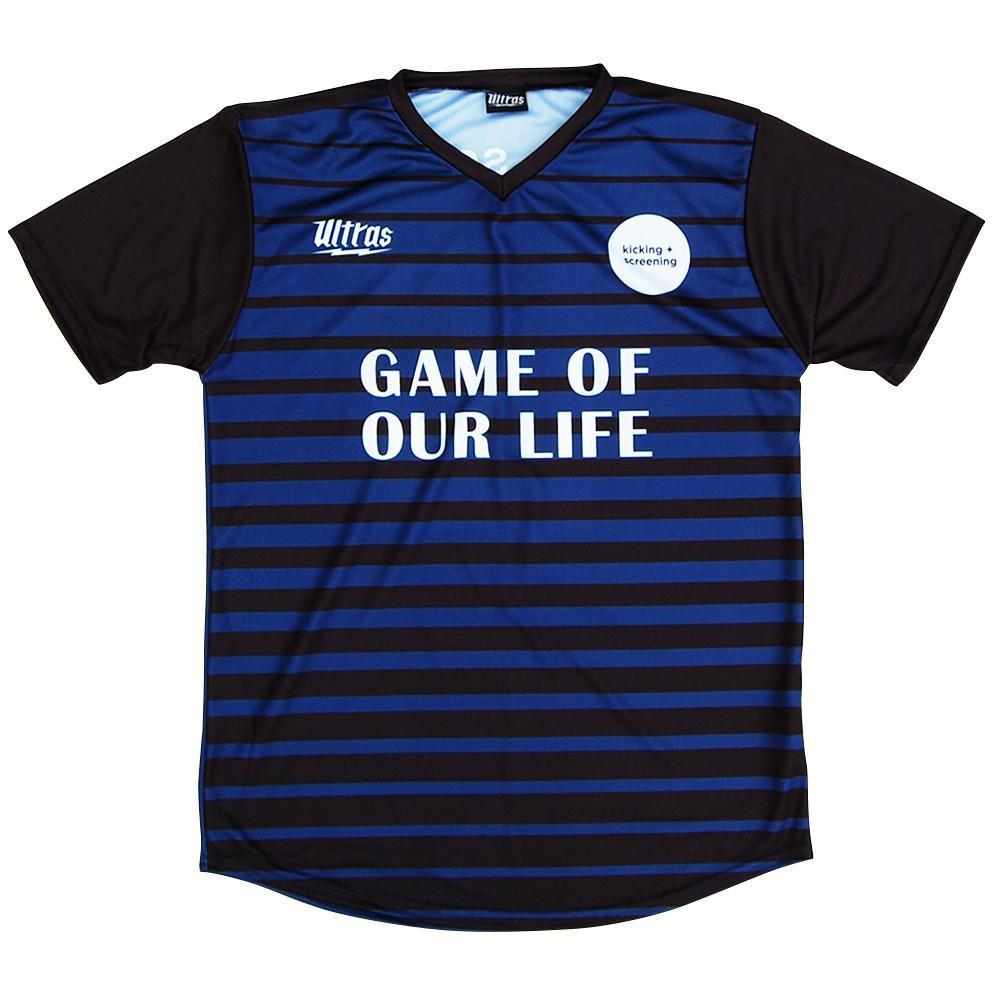 Kicking and Screening Film Fest 2016 Soccer Jersey in Blue by Ultras