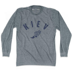 Kiev Track long sleeve T-shirt in Athletic Grey by Mile End Sportswear