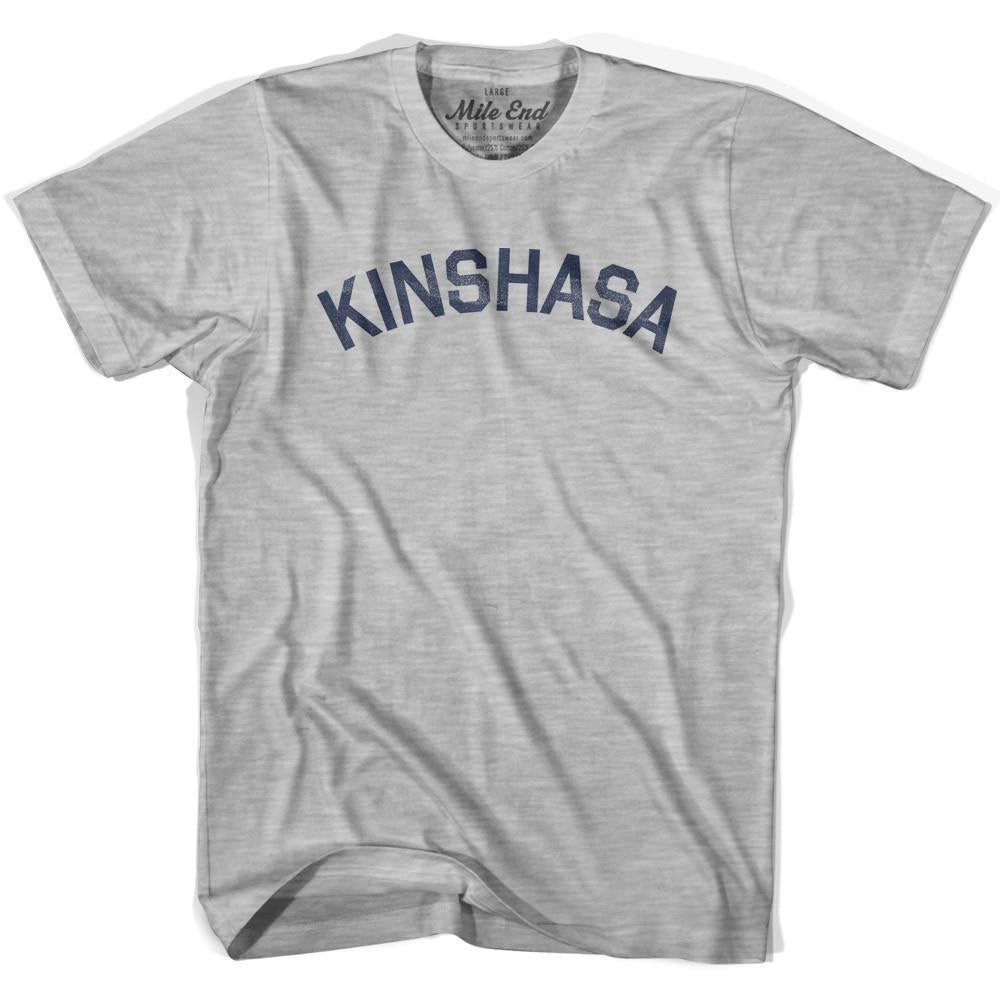 Kinshasa City Vintage T-shirt in Grey Heather by Mile End Sportswear