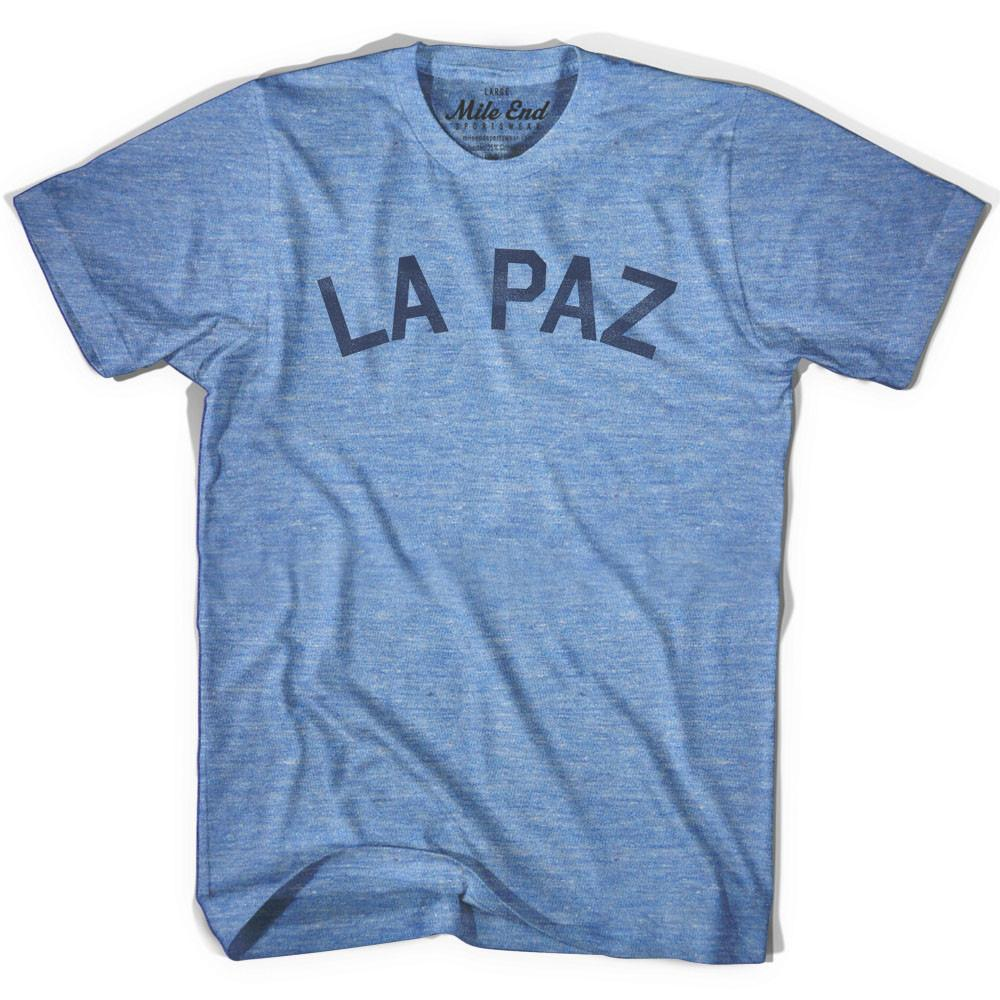 La Paz City Vintage T-shirt in Athletic Blue by Mile End Sportswear