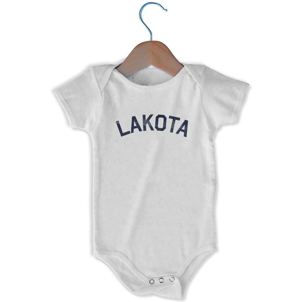 Lakota City Infant Onesie in White by Mile End Sportswear