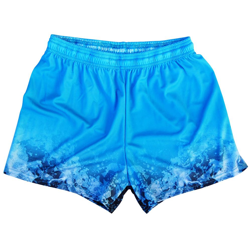 Land Sharks Womens & Girls Sport Shorts by Mile End in Blue by Mile End Sportswear