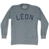 Leon City Vintage Long-Sleeve T-shirt in Athletic Grey by Mile End Sportswear