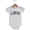 Libya City Infant Onesie in White by Mile End Sportswear