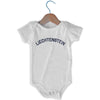 Liechtenstein City Infant Onesie in White by Mile End Sportswear