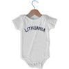 Lithuania City Infant Onesie in White by Mile End Sportswear