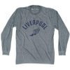 Liverpool Track long sleeve T-shirt in Athletic Grey by Mile End Sportswear