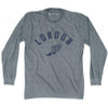 London Track long sleeve T-shirt in Athletic Grey by Mile End Sportswear