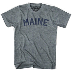 Maine Union Vintage T-shirt in Athletic Blue by Mile End Sportswear