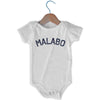 Malabo City Infant Onesie in White by Mile End Sportswear