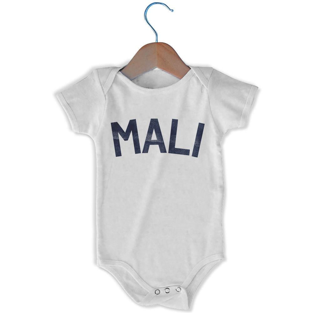 Mali City Infant Onesie in White by Mile End Sportswear