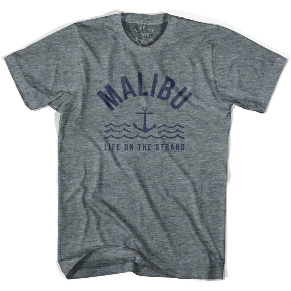 Malibu Anchor Life on the Strand T-shirt in Athletic Grey by Life On the Strand