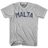 Malta City Vintage T-shirt in Grey Heather by Mile End Sportswear