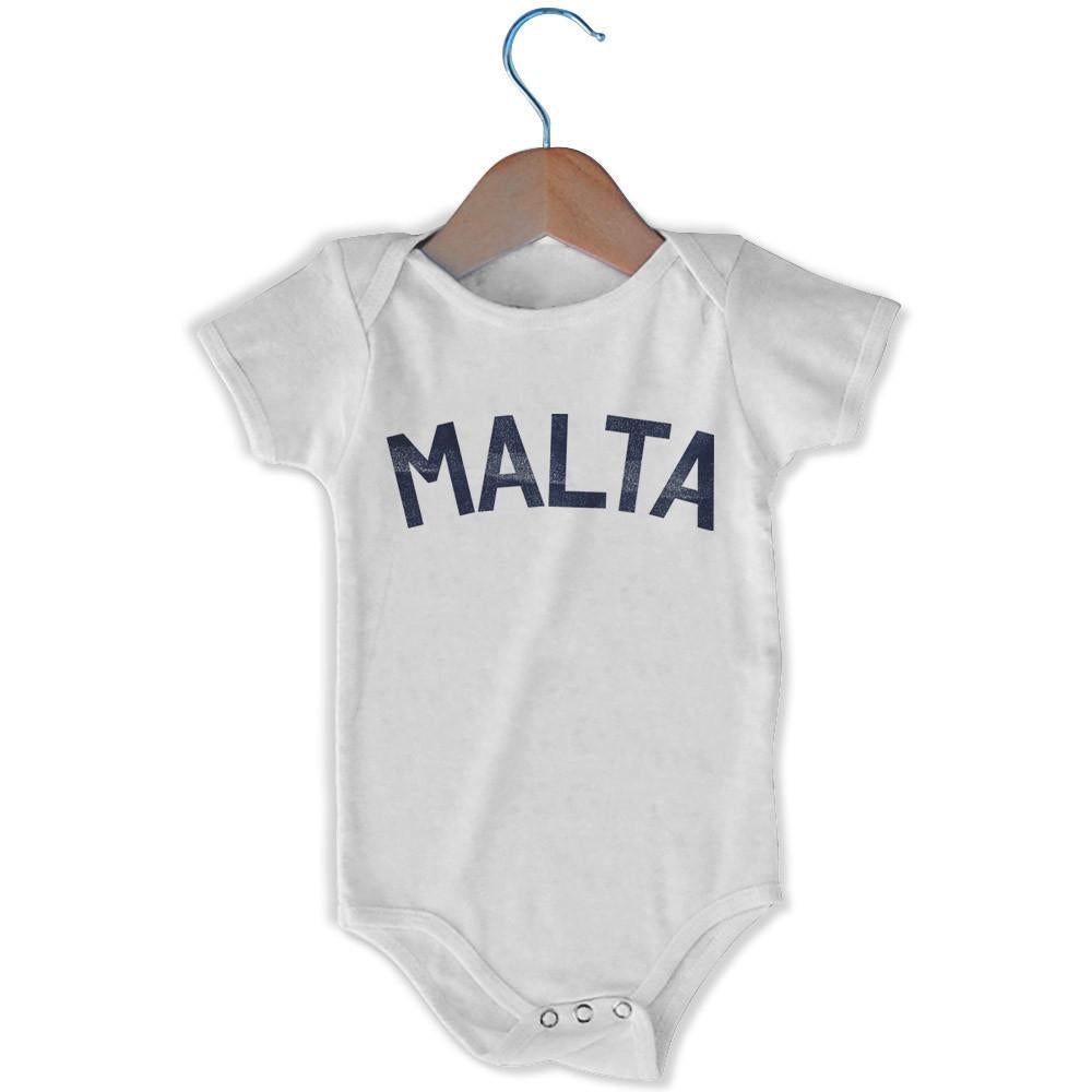 Malta City Infant Onesie in White by Mile End Sportswear