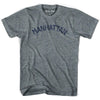 Manhattan City Vintage T-shirt in Athletic Blue by Mile End Sportswear