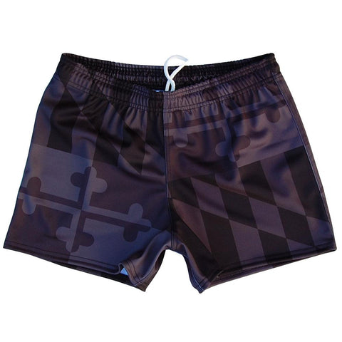 Maryland Flag Black Out Rugby Union Shorts