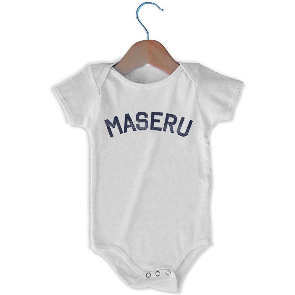 Maseru City Infant Onesie in White by Mile End Sportswear