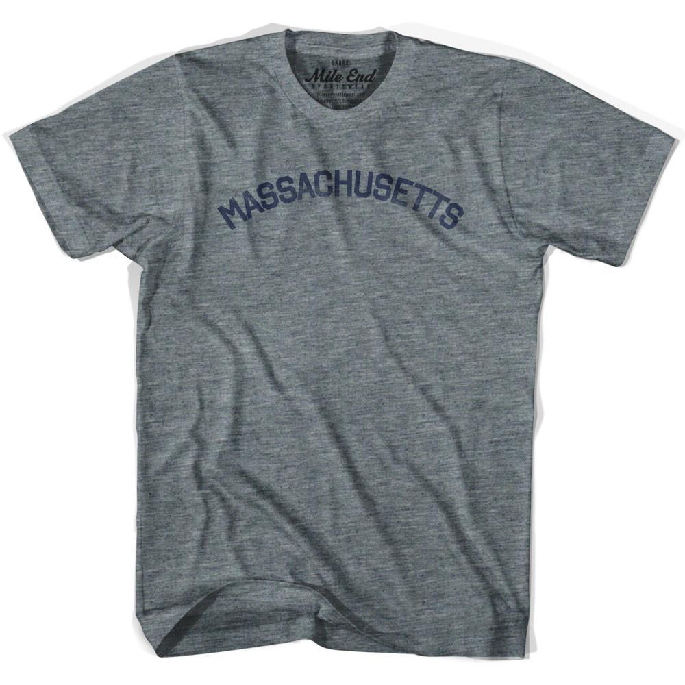 Massachusetts Union Vintage T-shirt in Athletic Blue by Mile End Sportswear