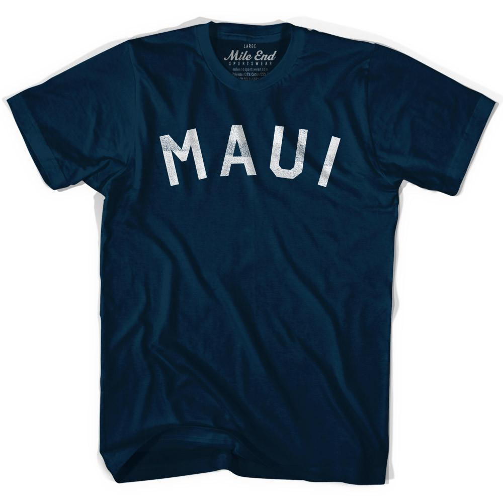 Maui Vintage City T-shirt in Navy by Mile End Sportswear