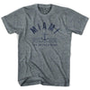 Miami Anchor Life on the Strand T-shirt in Athletic Grey by Life On the Strand