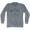 Miami Anchor Life on the Strand long sleeve T-shirt in Athletic Grey by Life On the Strand