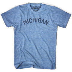 Michigan Union Vintage T-shirt in Athletic Blue by Mile End Sportswear