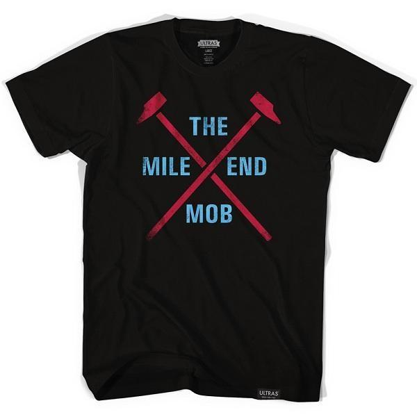 West Ham The Mile End Mob Soccer T-shirt in Black by Ultras