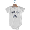 Mile End City Tricycle Infant Onesie in White by Mile End Sportswear