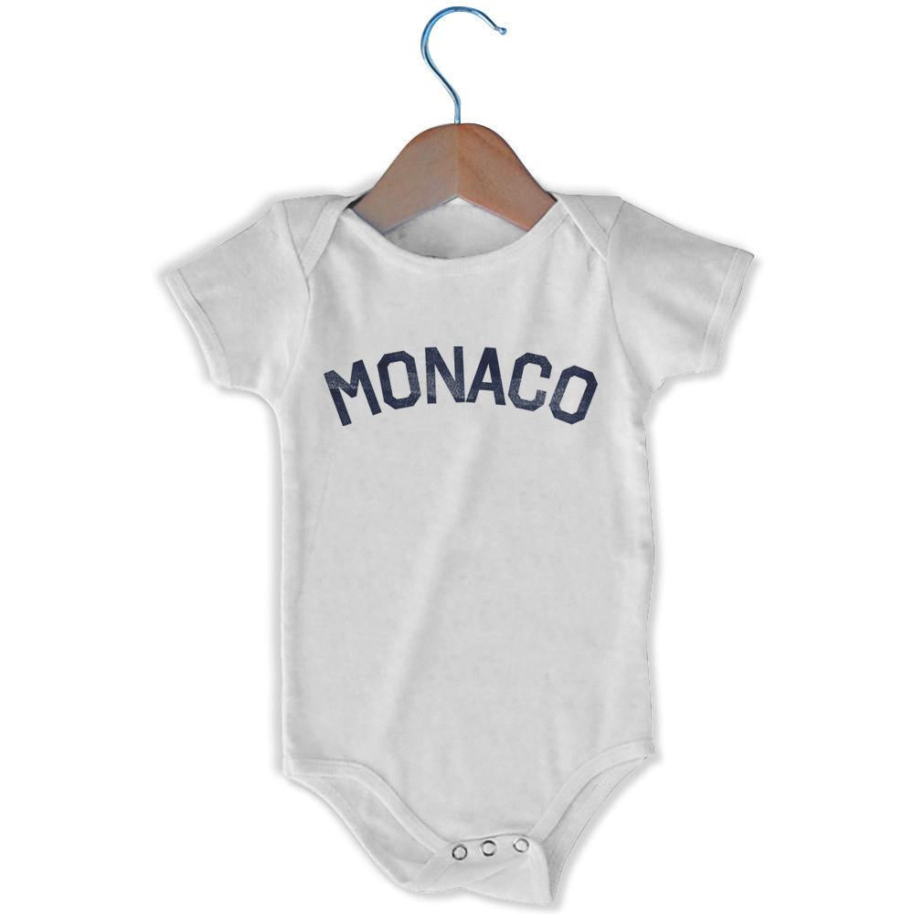 Monaco City Infant Onesie in White by Mile End Sportswear