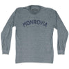 Monrovia City Vintage Long Sleeve T-shirt in Athletic Grey by Mile End Sportswear