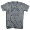 Montauk Anchor Life on the Strand V-neck T-shirt in Athletic Grey by Life On the Strand