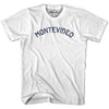 Montevideo City Vintage T-shirt in White by Mile End Sportswear