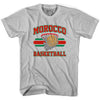 Morocco 90's Basketball T-shirts in Grey Heather by Billy Hoyle