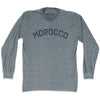 Morocco City Vintage Long Sleeve T-shirt in Athletic Grey by Mile End Sportswear