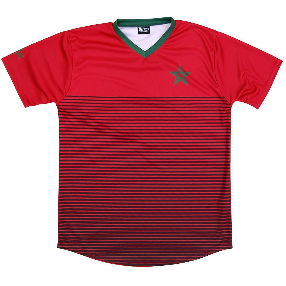 Morocco Rise Soccer Jersey in Red by Ultras