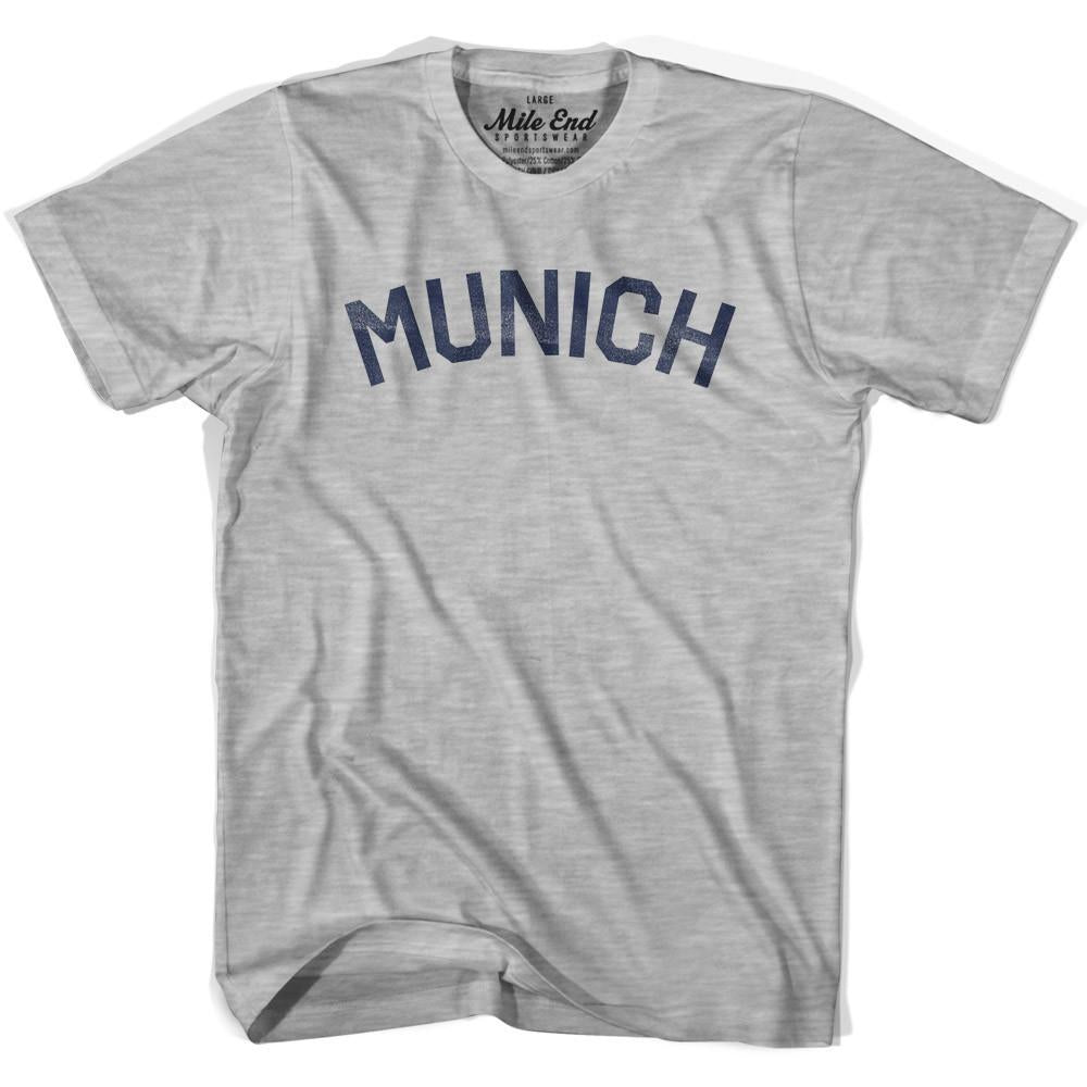 Munich City Vintage T-shirt in Grey Heather by Mile End Sportswear