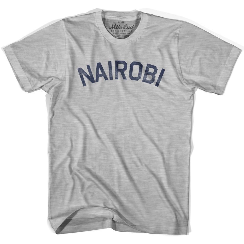 Nairobi City Vintage T-shirt in Grey Heather by Mile End Sportswear