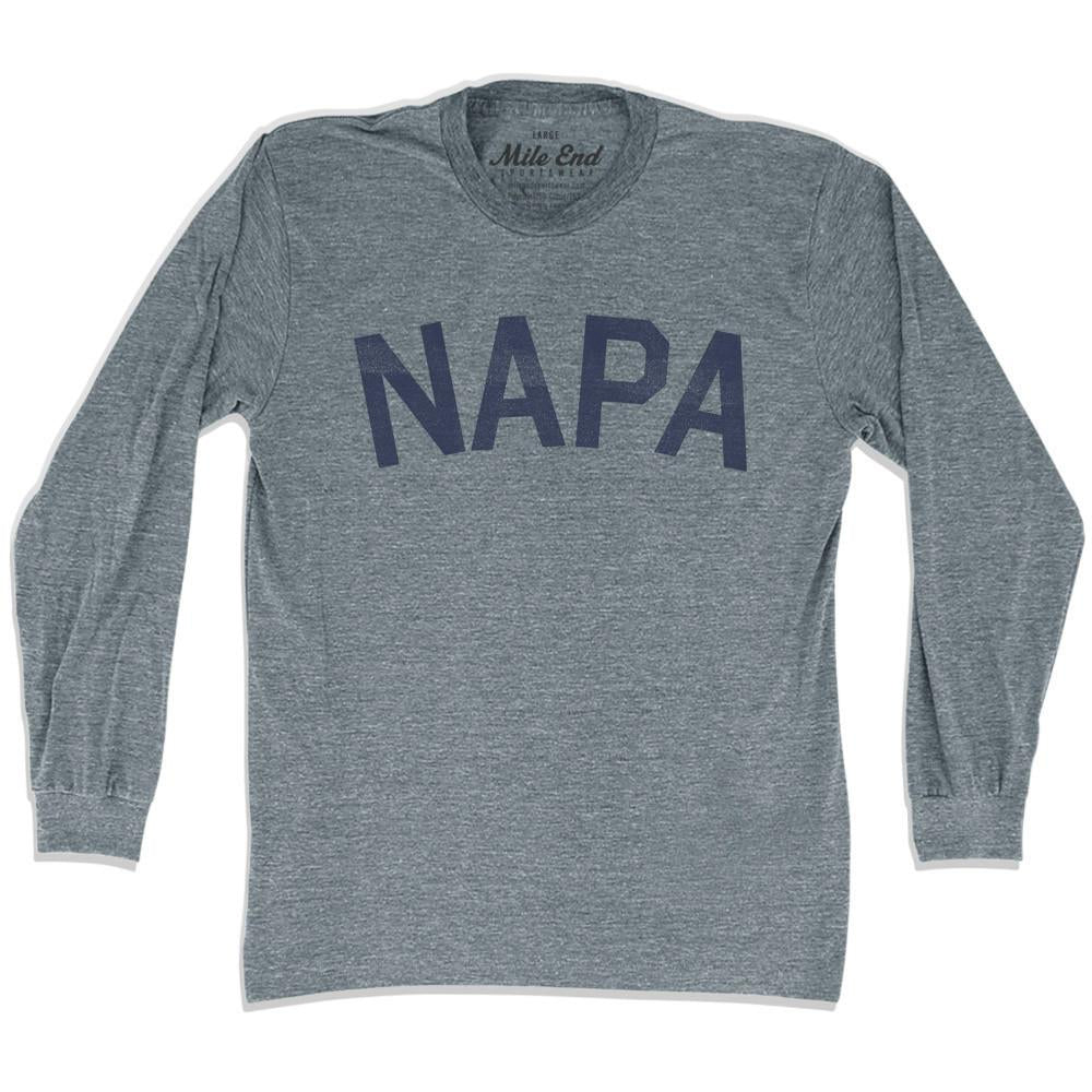 Napa City Vintage Long Sleeve T-shirt in Athletic Grey by Mile End Sportswear