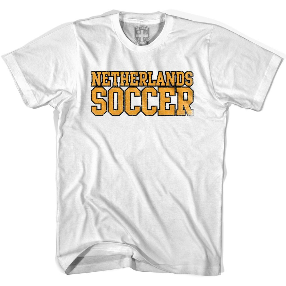 Netherlands Soccer Nations World Cup T-shirt in White by Neutral FC