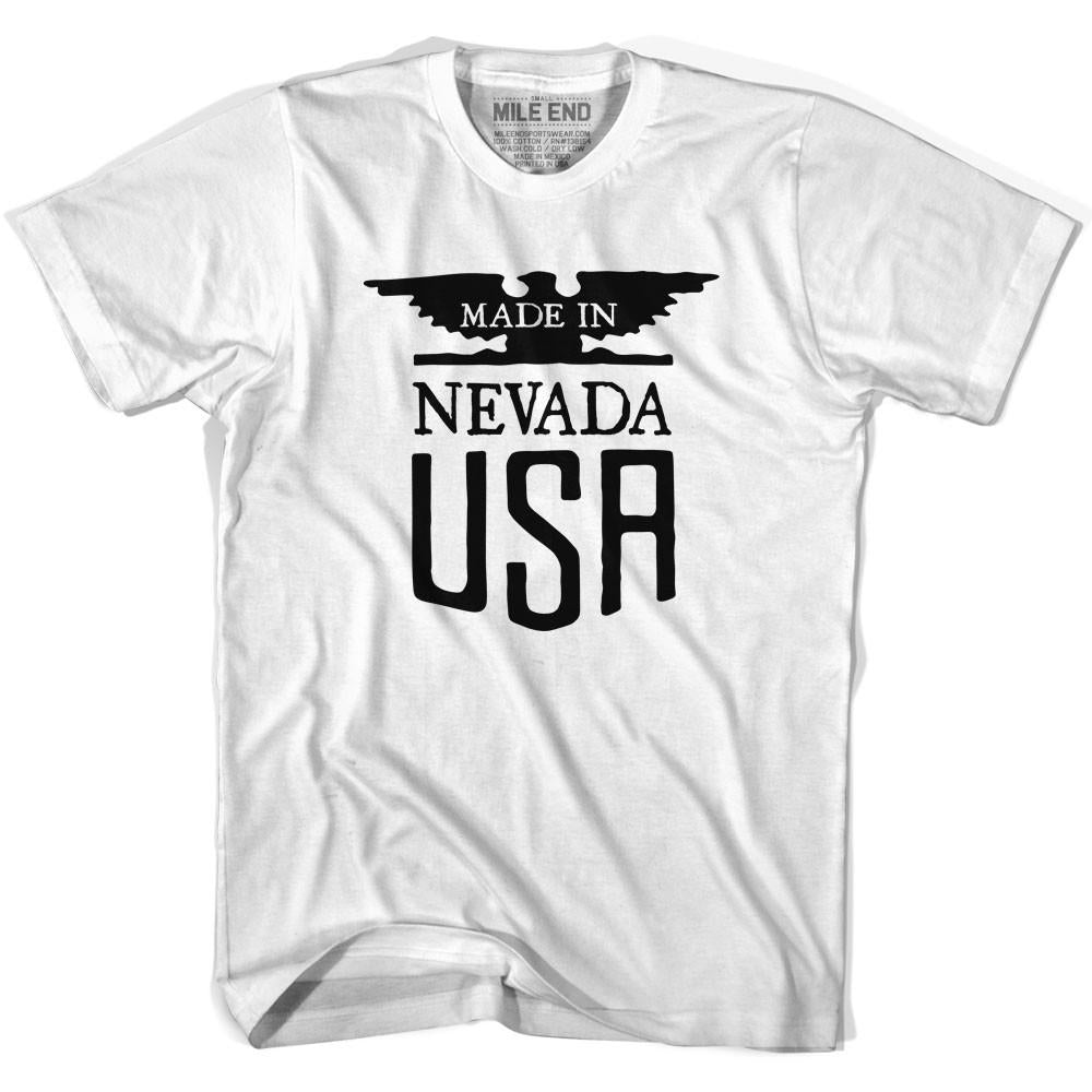 Made in Nevada Vintage Eagle T-shirt in White by Mile End Sportswear